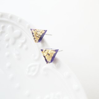 *Rosy Garden*purple triangle resin earrings