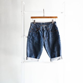 River water mountain - levis 558 / W26 Ishikawa deep sea stone blue youth tale cotton tannin antique shorts ancient leather denim pants vintage