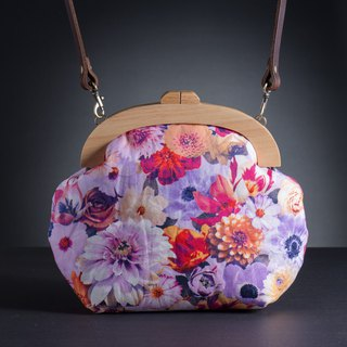 [Curly X flower style] retro wooden mouth gold package - Mood # portable bag # # # # flower bag elegant