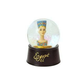 Egyptian crystal ball magnet Nefertiti