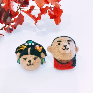 Yan Wei Raiders must Fucha bear and raccoon pin / magnet