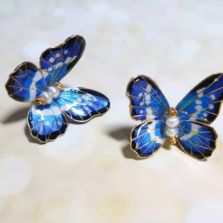 Miss Paranoid Paranoia Miss Dance Helena Flash Butterfly Resin Earrings Sold in Pairs