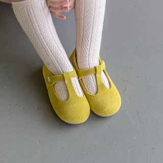 Toddler Girl Shoes, Yellow Baby Girl Shoes, Mustard Yellow, Leather Baby Shoes