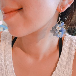 Not withered hydrangea earrings