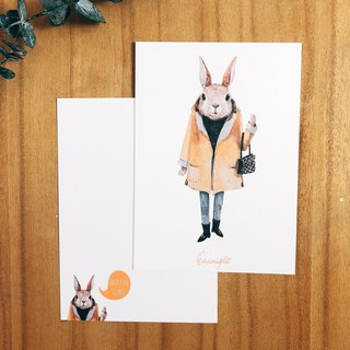 Rabbit Postcard