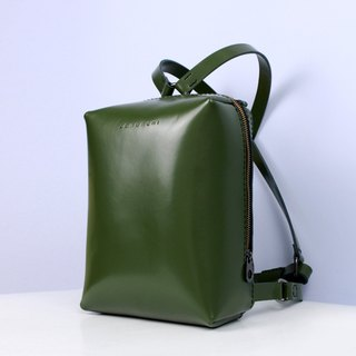 TaneLa Leather Back pack in deep green color