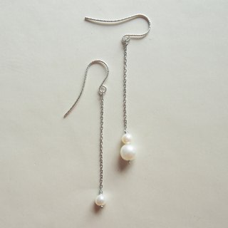 Long Dangle Freshwater Pearl Earrings | Able to change into clip on