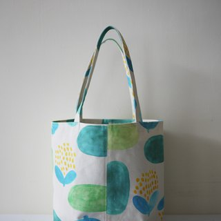 Moshimoshi | round bottom bag - garden