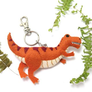 //Several minutes// Sounding Tyrannosaurus key ring charms