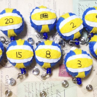 Volleyball - modeling retractable badge clips
