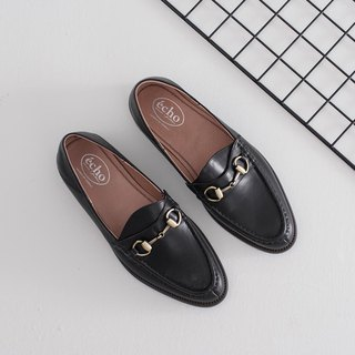 Echo copper buckle horse title Muller Loafers Ec38 black
