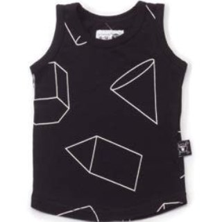 2016SS Spring NUNUNU black triangle sleeveless vest