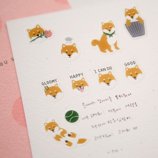Beautiful decorative transparent stickers - 28 Shiba Inu, E2D12571