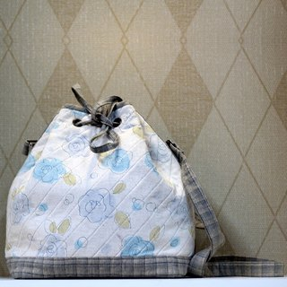 Elegant Light Blue Bouquet Backpack ❖ Exclusive Hand Sewing Bag ❖