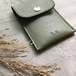 KAKU leather design business card holder card holder green