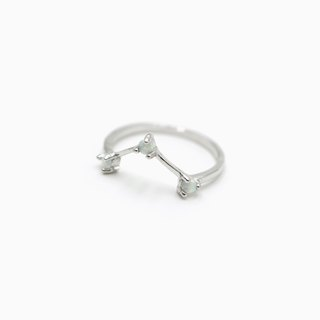 V Shaped Mini Opal Ring - 925 Sterling Silver