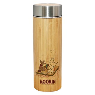 Moomin Moomin - Wood grain stainless steel thermos bottle