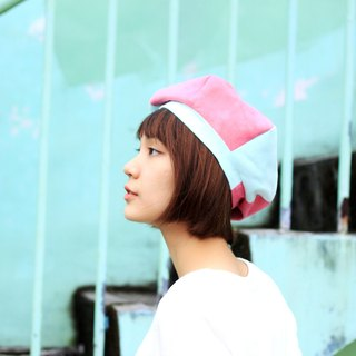【The MAMA's Closet】Papillon(Pink with Light Green) / Beret