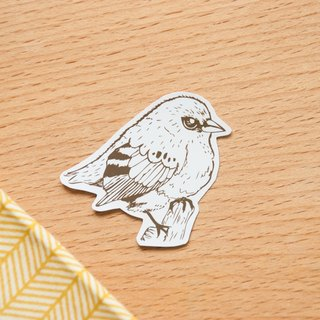 [Animal series # 4 monochrome bird coloring sticker pack 5