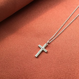 Cross・Necklace Smooth Light Sterling Silver【SZN1743】