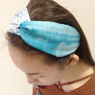 Blue Ocean Double Yarn Hairband