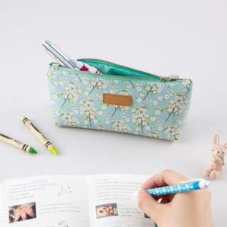 ARDIUM soft leather pencil case - cherry mint