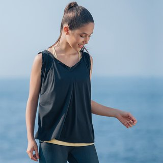 [MACACA] Grass Leaf Comfortable Top - BQE1241 Black