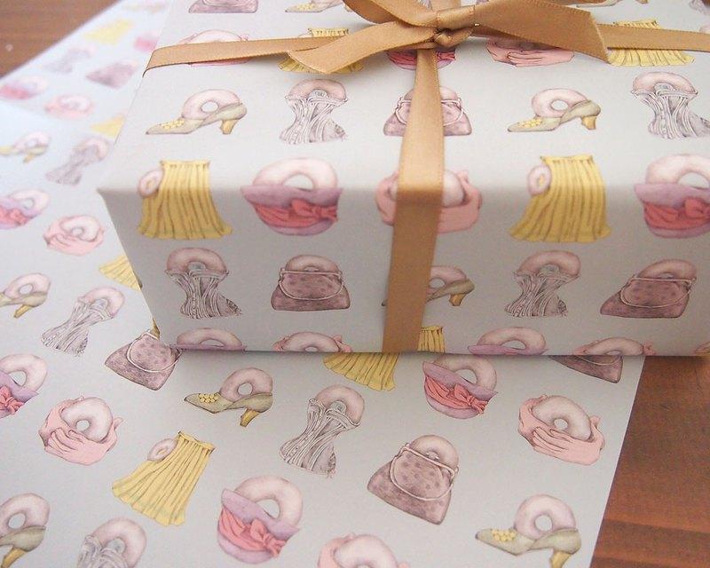 包裝紙甜甜圈外賣
