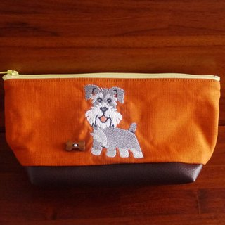 Schnauzer Custom Embroidery Pen Bag Storage Bag 10 Colors Free Embroidery Name Please Remarks