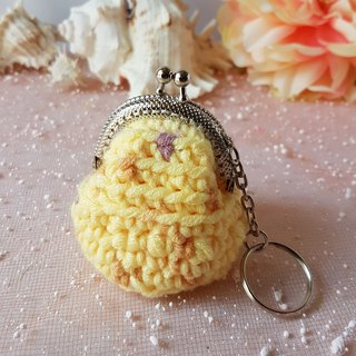 Crochet coin purse with metal frame gbp180822