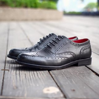 Placebo Litchi Texture Wing Pattern Men's Shoes