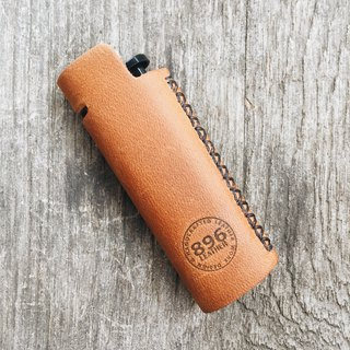 Tan Oil leather lighter case, Lighter cover, Handmade lighter case