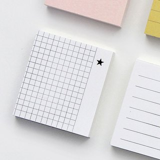GMZ pastel square crisp index post-it notes -05 square black star, GMZ07181