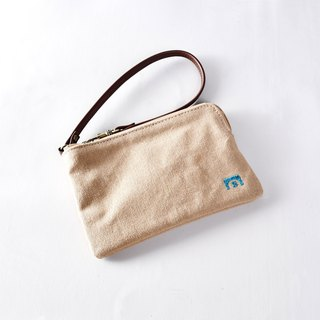 Clutch bag - LEAF khaki
