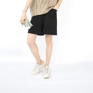 Gao fruit GAOGUO original designer brand women's loose pocket 17 mercerized cotton knit shorts wild