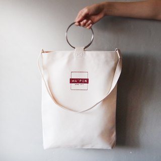 Classic LOGO-Red (with strap) canvas tote bag