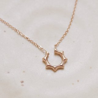 Zircon Smile Necklace [Cone Chain]