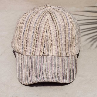 Cotton hat Cap Cap Weave Cap Fisher hat Visor Cap Hand cap Sports cap - Light purple rainbow