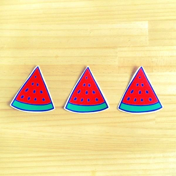 1212 design fun funny stickers waterproof stickers everywhere - refreshing watermelon