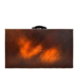 ACROMO Brown Box Clutch Bag