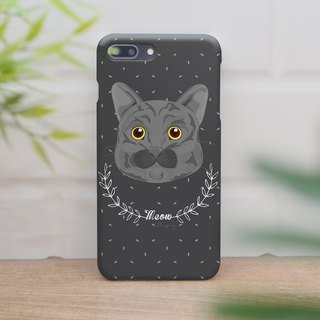 a cute gray cat iphone case สำหรับ iphone7 iphone8 iphone8 plus iphone x