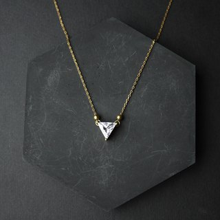Point Triangle Clavicle Chain - Brass Necklace