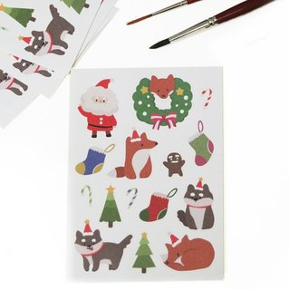 Critter Christmas roll type sticker