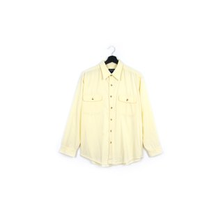 Back to Green :: Corduroy ivory white / / men and women can wear / / vintage Shirts