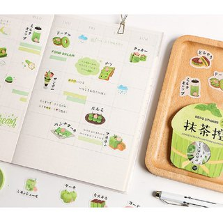 Life log series geometric stationery daily matcha snacks hand account sticker pack 8 models each 40 pieces