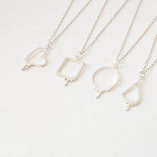 Melted Geometry Necklace