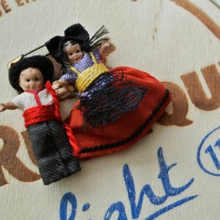[T - C} Antique Vintage doll pin