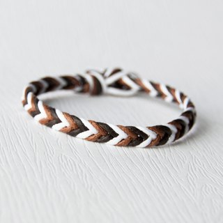 From shallow to deep - fine version of the gradient coffee / hand-woven bracelet