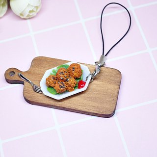 =>Clay Series - Croquettes - Charm # can be changed into a key ring #包配件=>限限*1