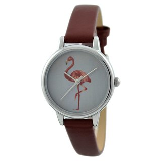 Mothers Day Gift Flamingo Watch Brown Ladies Watch Free shipping worldwid